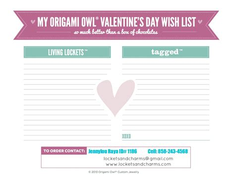 Origami List Of Things - origami owl wait list 2013 invitations ideas