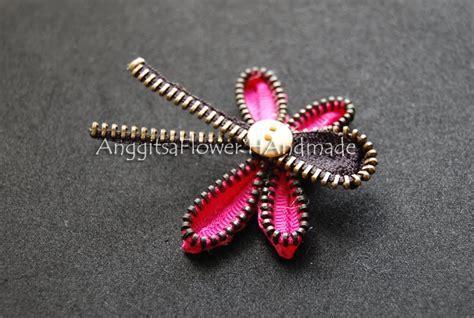 cara membuat zipper brooch anggitsaflower handmade zipper dragonfly brooch bros