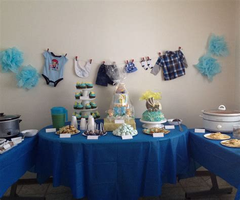 baby shower table table idea it s a boy baby shower