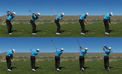 new golf swing tiger woods accenture match play tucson 2009 panoramic