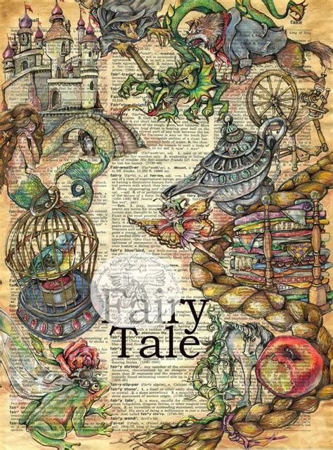 doodle draw journal kristy conlin 18 quot x 24 quot mixed media drawing of tale characters on