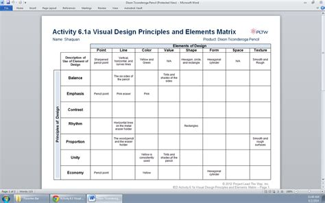 Home Design Elements activity 6 1 visual design principles and elements