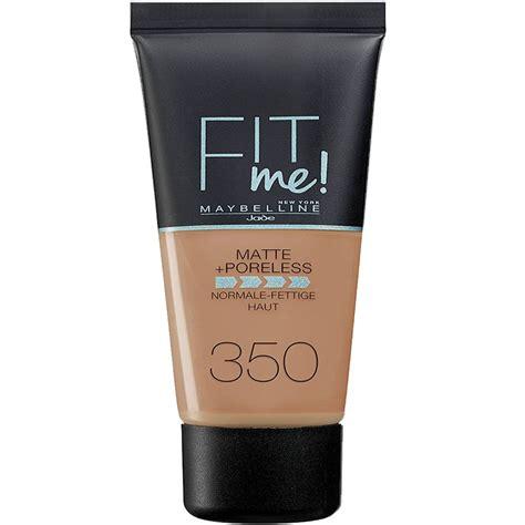 Maybelline Fit Me Matte Poreless Foundation fit me matte and poreless foundation 30ml 350 caramel