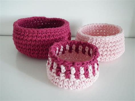 crochet baskets housewares holiday gift idea
