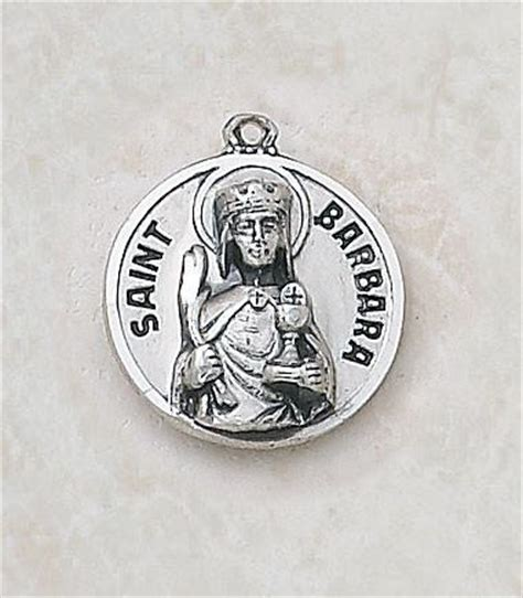 Cr Qq180 Medal Discount Shipping - st barbara sterling silver medal discount catholic store