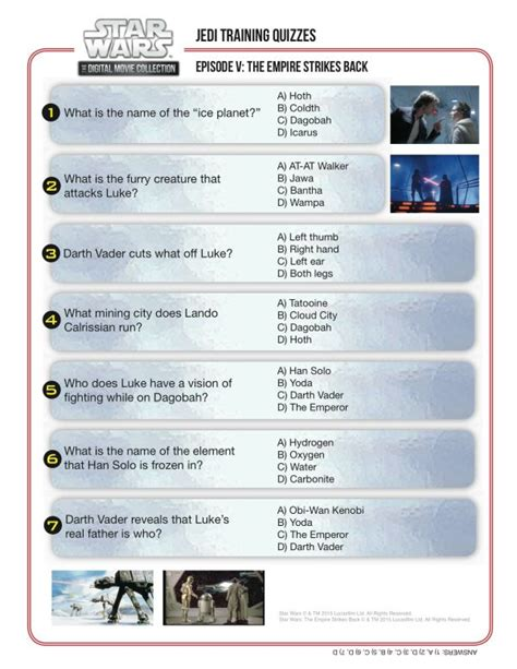 printable easy star wars trivia jedi training quiz star wars episode v the empire