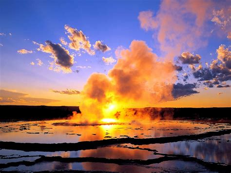water sunsets steam clouds  wallpaper nature