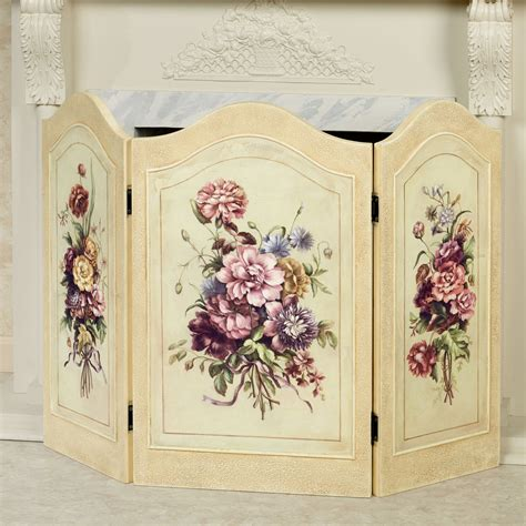 fancy fireplace screens floral dreams decorative fireplace screen