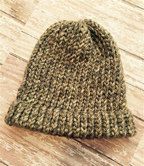 loom knit mens hat granite loom knit hat beanie knit hat warm hat winter