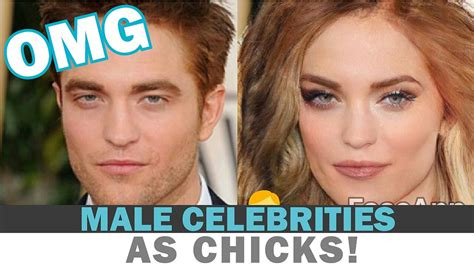 what celeb do i look like app top 10 male celebrities as hot chicks faceapp gender