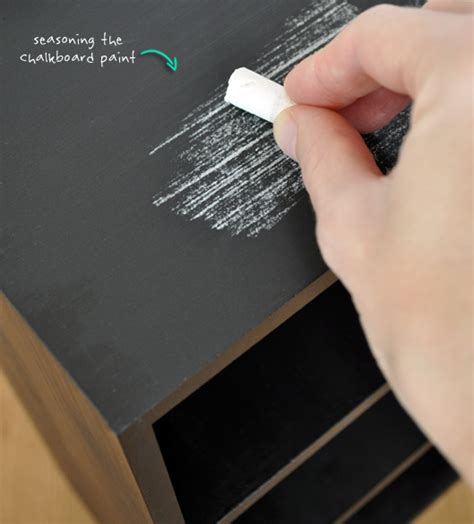 chalkboard paint seasoning the painted hive leather upholstered mini drawer set hack