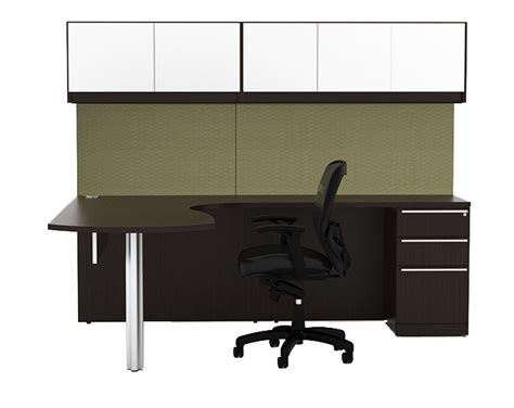 Soho Miami S Ultra Modern Peninsual L Desk With Wall Wall Mounted Desk L