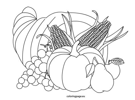 cornucopia food coloring page images