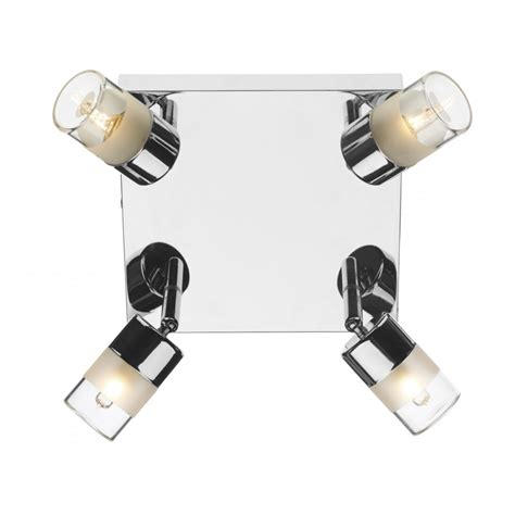 Dar Bathroom Lighting Art8550 Dar Artemis Spotlight 4 Light Bathroom Spotlight Ip44