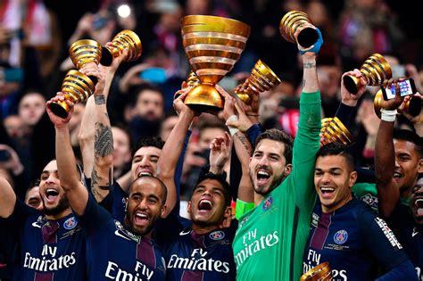 match in photos psg win fourth consecutive coupe de la