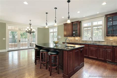 dark cherry wood kitchen cabinets of kitchens traditional dark wood kitchens cherry color