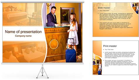 templates powerpoint hotel reception service powerpoint template backgrounds id