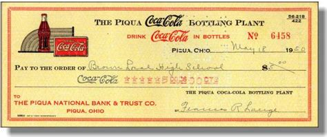 Company Background Check Coca Cola Bottling Company Check 1950 S Piqua Ohio