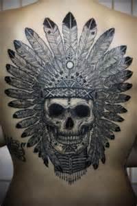 skull tattoo on back tatuajesxd