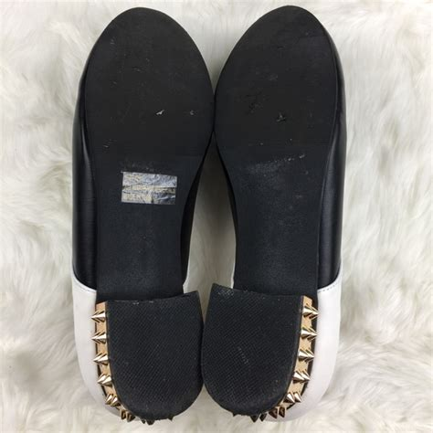 white lace oxford shoes qupid qupid studded black white lace up oxford flats