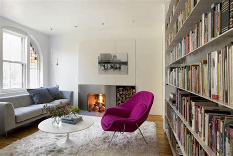 Wohnzimmer Einrichten Ideen 2091 by Flokati Teppiche Wei 223 Wohnzimmer Kamin Violett Sessel