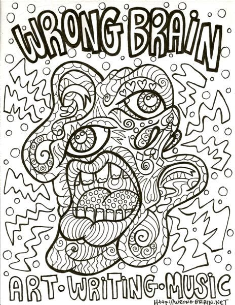 coloring book pages wrong coloring pages wrong brain to be colored by