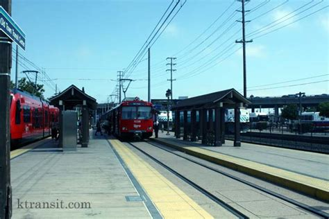 San Diego Light Rail by San Diego Trolley Town Station