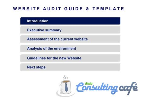 website audit report template guide to website audit