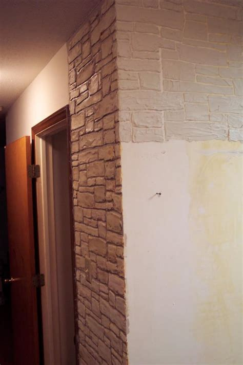 Hometalk   Plain Walls Are Transformed in to Stone Walls