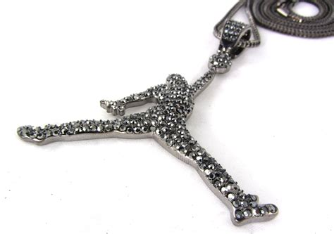 chain jewelry iced out air 23 nba pendant 30 36 quot franco chain