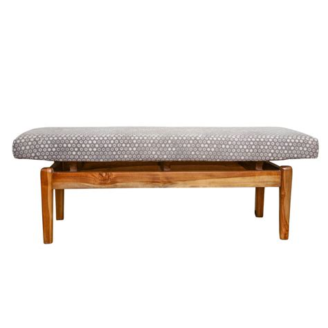 solid teak bench solid teak upholstered bench the block shop
