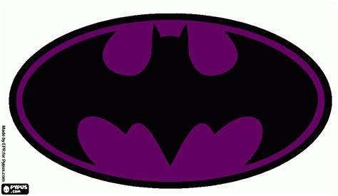 Purple Batman L Coloring Page Printable Purple Batman L