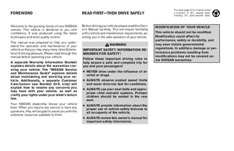 2003 altima owner s manual