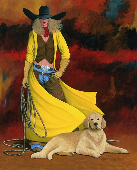Dog Duvet Man S Best Friend Painting By Lance Headlee