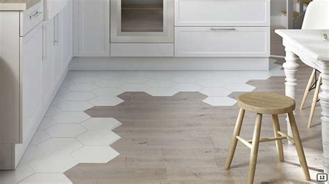 Decor trend: tile and wood flooring combination