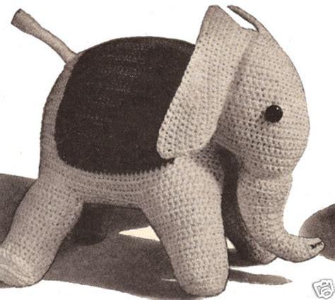 vintage elephant pattern elephant stuffed animal toy crochet pattern vintage ebay