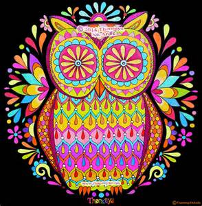 colored owls colorful fluorescent owl by thaneeya mcardle title
