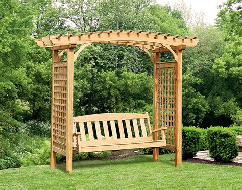 swing arbors treated pine greenfield arbor and swing set