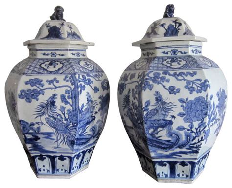what is a ginger jar pair of huge vintage chinese ginger jars asian home