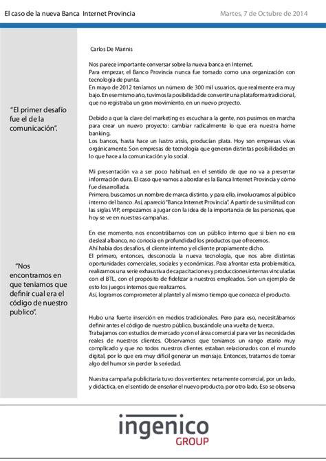 banca internet provincia el caso de la nueva banca internet provincia