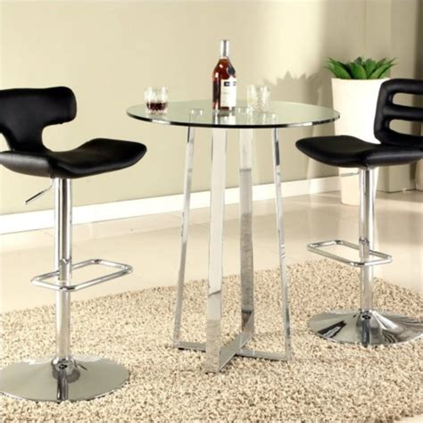 bar high top table chintaly chambers high bar table with glass top in chrome