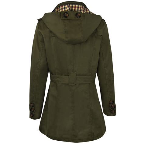 new womens mac coat trench jacket breasted belted