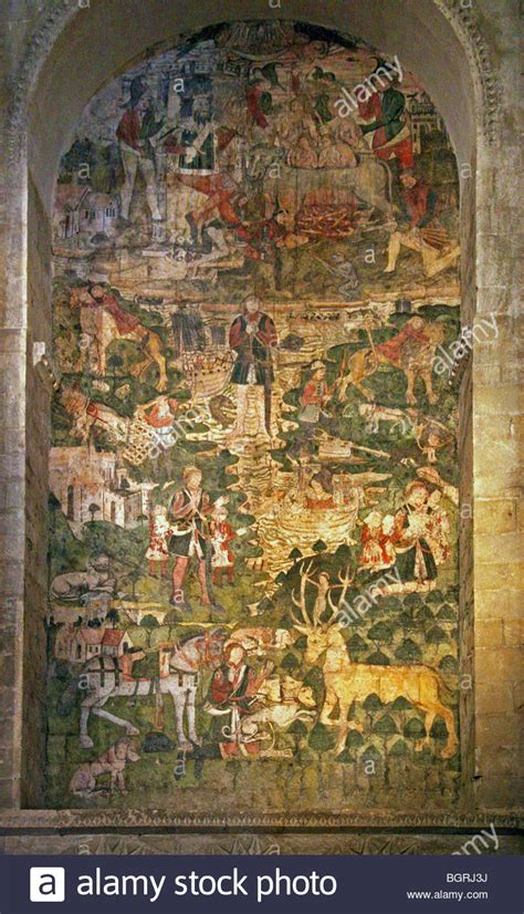 the legend of st mural c 1480 of the legend of st eustace in