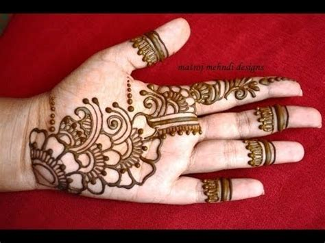 beautiful  simple arabic mehndi designs  hands   indian youtube