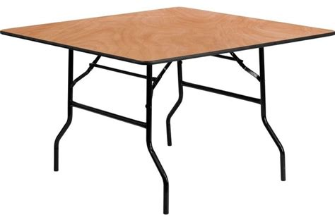48 quot square wood folding banquet table contemporary