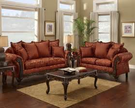 Red floral print sofa and loveseat traditional sofa set for the