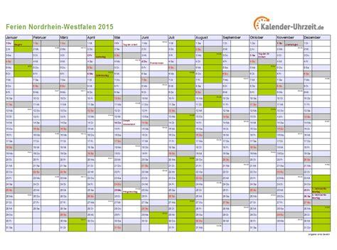 Nrw Kalender 2015 Ferien Nordrhein Westfalen 2015 Ferienkalender Zum