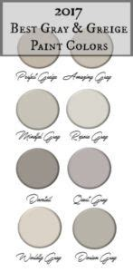 2017 best gray greige paint colors paint therapy