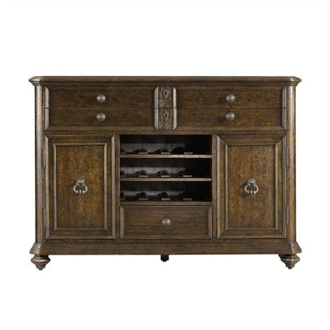 stanley furniture bar cabinet portfolio rustica dining sideboard cabinet in sorrel 208