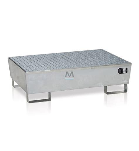 vasca di contenimento vasca di contenimento per 2 fusti in acciaio zincato
